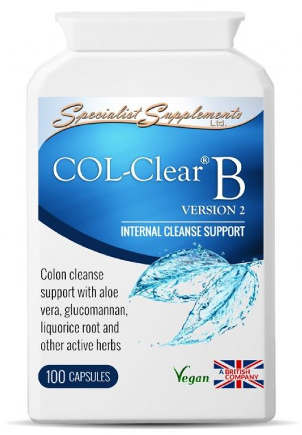 COL-Clear B (v2) x 100 Veg-Caps; Internal Cleanse Support Specialist Supplements
